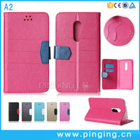 Hot Selling Wallet Style Leather Folio Cover Case For ZTE Blade A2