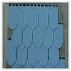 Excellent Fiber glass raw material colorful fish scale asphalt shingle for construction material