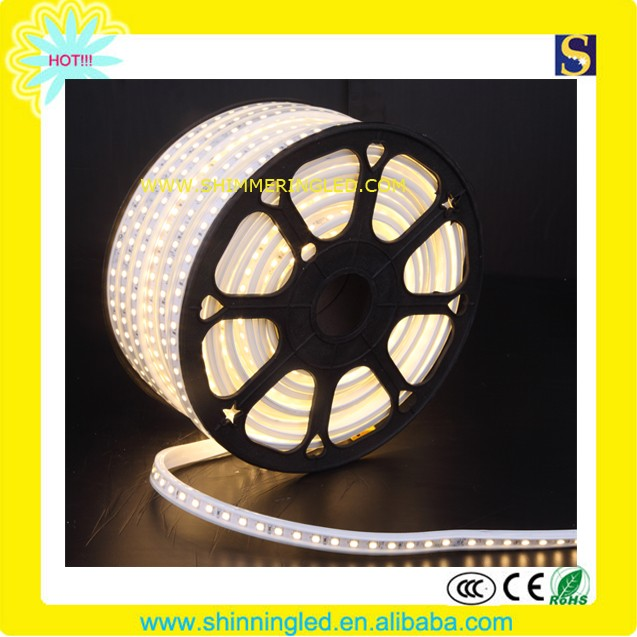 IP65 indoor/outdoor Ac230V longlife SMD5050 led flexible 50meter/roll rope light