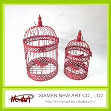 Red metal cage for pet decorative bird cages wholesale