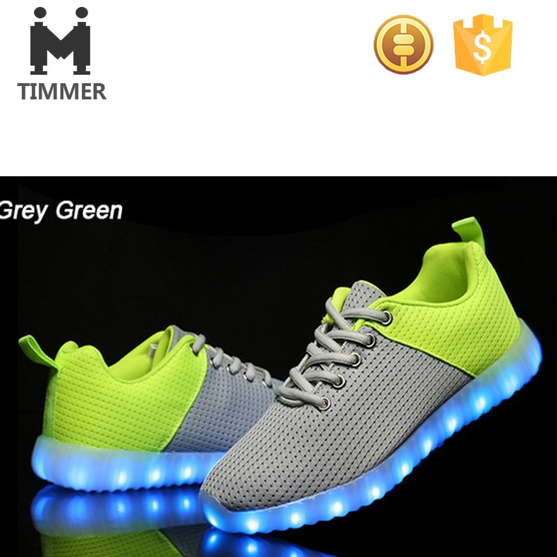 custom LED shoes men 2016 America hot selling light up sneaker fashion luminous footwear
