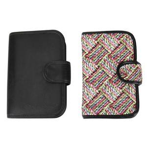 Safety lock portable wallet shape weekly tapestry pill box
