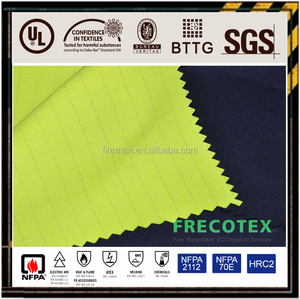 Modacrylic Cotton Blending inherent fire retardant fabric with anti-static carbon fiber manufacture
