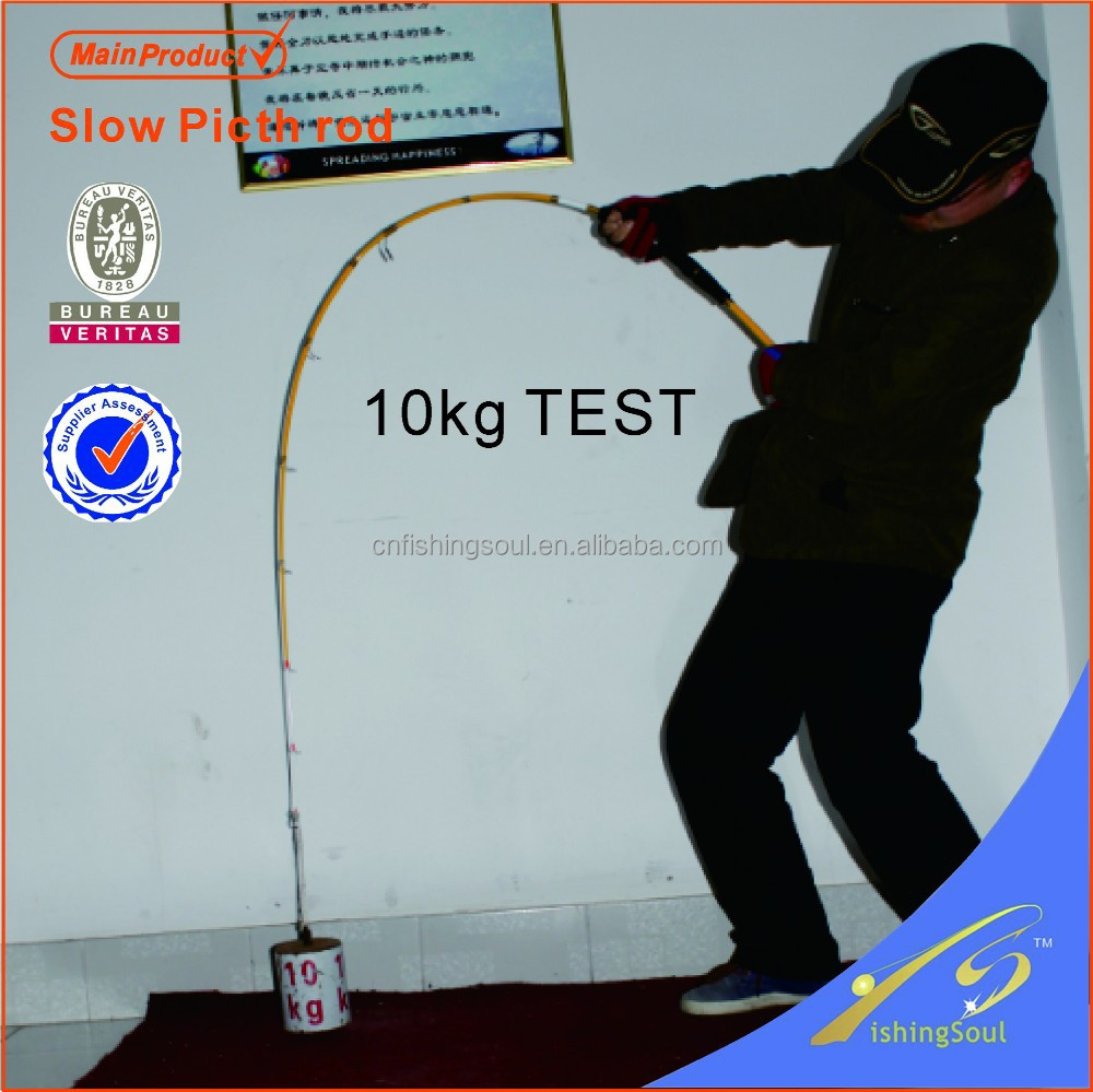 SLJ001_1 High Quality Chinese Manufacture Wholesale Fishing Tackle SRF Nano Slow Pitch Jigging Rod