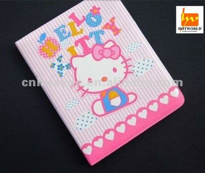 Cute Hello Kitty Leather Case cover for Ipad 2 3
