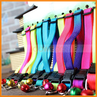 12 Colour Personalized Adjustable Colorful Rainbow Bell Pet Dog Collars