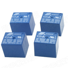 Relay SRD-05VDC-SL-C switching 10A songle relay