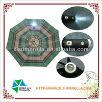 "21"" auto open rubber handle with light umbrella"