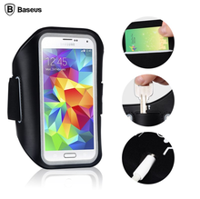 Baseus Universal Sports Arm band Case For iPhone Under 5.5 inch Mobile Running Anti- sweat Phone Bag Black
