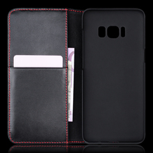 Alibaba China book style wallet leather phone cover case for Samsung Galaxy S8