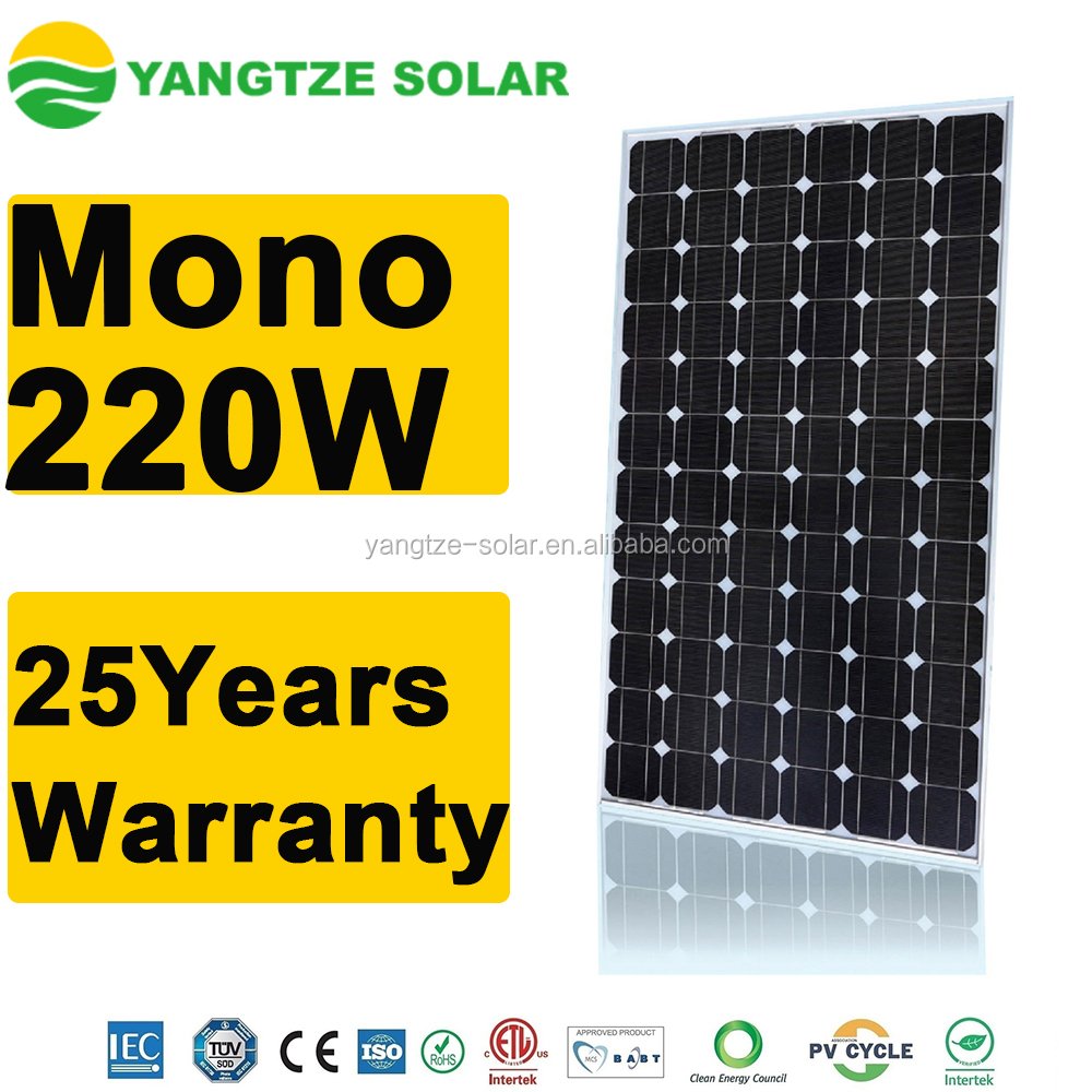 Yangtze higher quality pv solar panel 220w