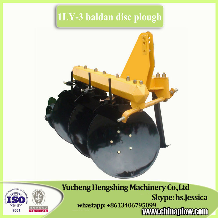 Agricultural implements 3 disc plough tractor baldan disk plow for sale