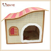 New summer folding bamboo house cats pet nest dog kennel bamboo luxury cat houses