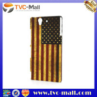 Retro United States American Flag Case for Sony Xperia Z