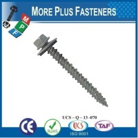 Made in Taiwan Hex Washer Head Metal Roof Screw