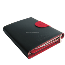 Zippered Genuine Leather Portfolio for iPad and Tablet PC