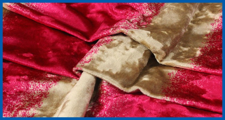 100% Polyester crushed velvet fabric for curtain