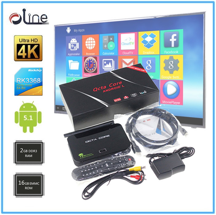 New styles EMMC 16GB ROM Android 5.1 z4 tv box magic tv box iptv