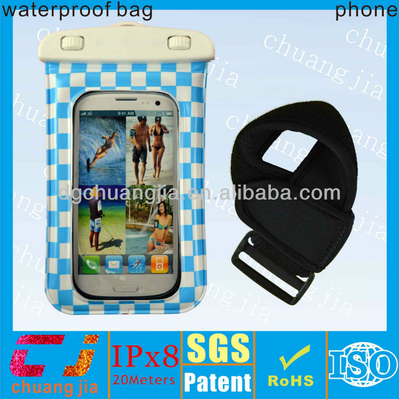 Newest waterproof armband cell phone case for S4 with IPX8 certificate for shower