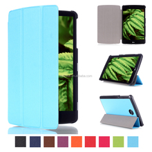 Wholesale Popular Three Folding Smart PU Leather Tablet Cover Case For LG G PAD 2 8.0 V498