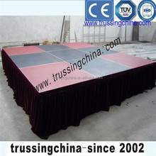 folding stage,mobile folding stage,heavy loading weight portable stage with 18mm thickness top plywood deck