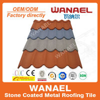 Factory sale Wanael stone coated metal roof tile/best selling products/louver roof