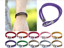 Modern fashion jewelry men leather bracelet ,free samples waistband