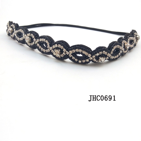 Fancy Western Beaded Headband Elastic Hairbands Wholesale