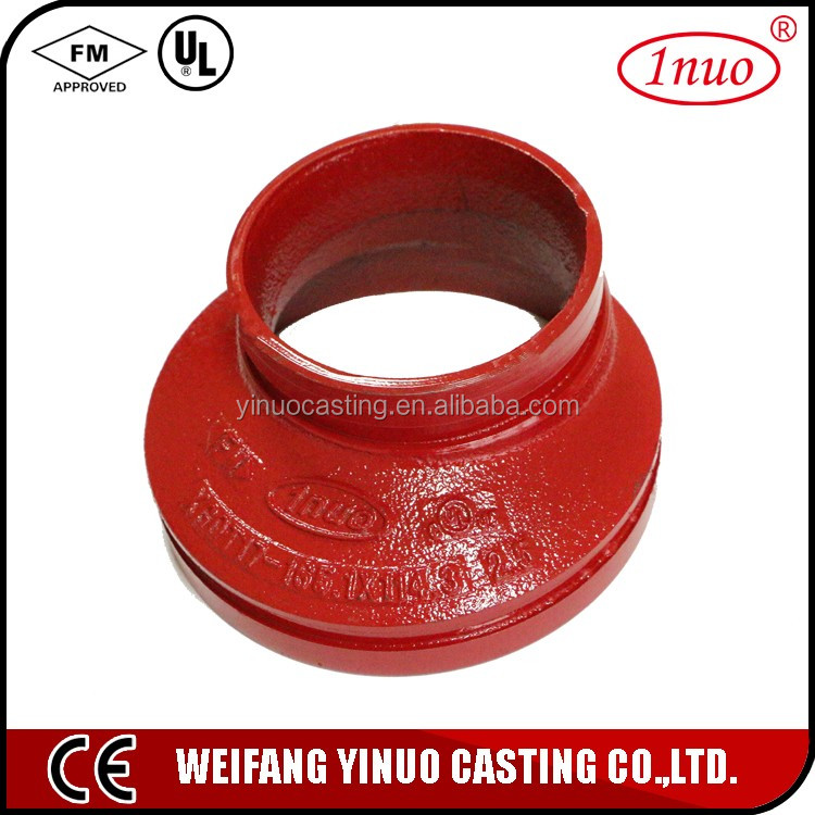 FM UL Approved Ductile Iron eccentric reducer pipe fittings