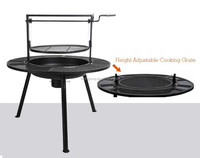 Adjustable ponderosa charcoal barbeque pit (BF10-M568)
