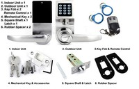 password digital door lock, remote control door lock
