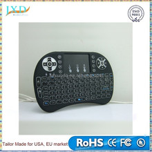 Mini i8 Pro air mouse backlit designed for Android system with CE&ISO 2.4ghz wireless keyboard