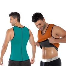 Wholesale Sauna Ultra Sweat Weight Loss Neoprene Vest Tops Running Gym Vest For Man Body Shaper Body Slimming Vest
