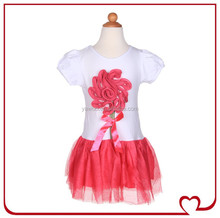 Cute Flower Embroidered Baby Girls Party Dress Design Beautiful Dresses For Young Girls