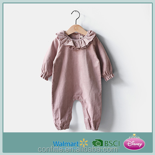 Baby Girls 75% cotton& 25% polyester velvet rompers fashionable style during 2016