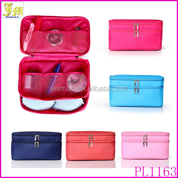 New Arrival Travel Portable Underwear Case Makeup Cosmetic Bag Luggage Storage Bra Organizer