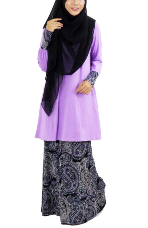 baju kurung abaya Long Sleeve Maxi Nursing style Arab muslim dress