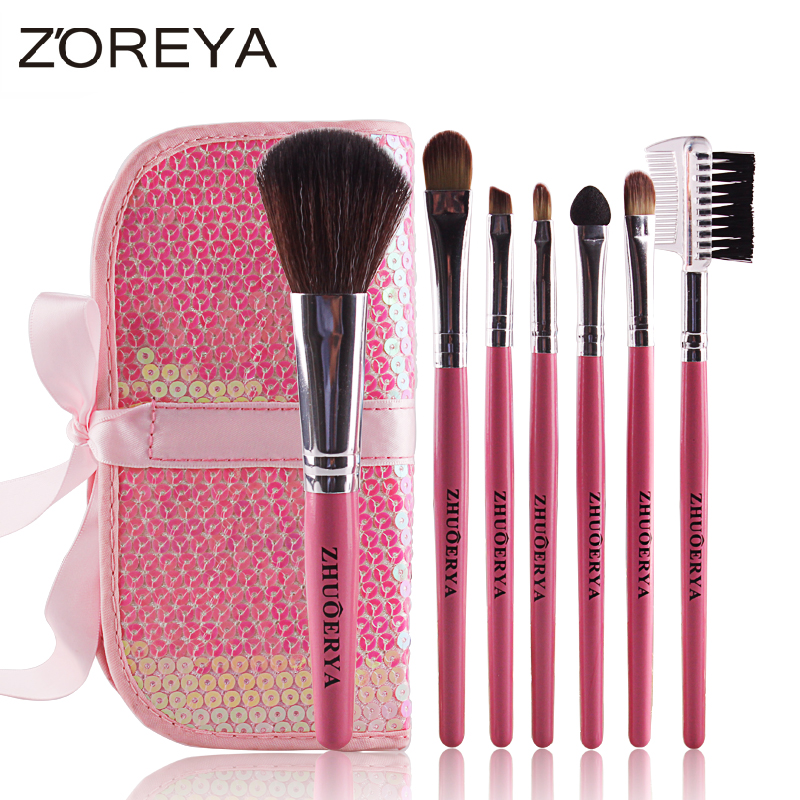 7pcs Sequined decoration brush makeup set