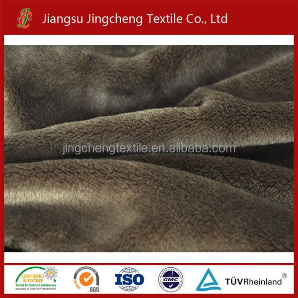 Knitted fabrics coral fleece fabric/coral velvet fleece fabric for blanket, hometextile JC04161