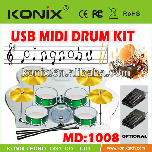 silicone MIDI portable used electronic drum set