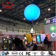 inflatable decoration balloon lamp, inflatable illuminating balloon light with stand