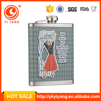 Europe classical sex russia girls hip flask gift set