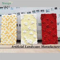 High quality artificial real touch wedding decoration flower wall
