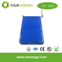 High Quality 12V 42Ah lifepo4 battery pack for solar power energy charge solar battery rechargeable OEM/ODEM support