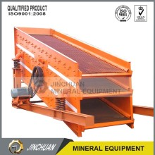 dewatering vibrating screen for wet mine materials