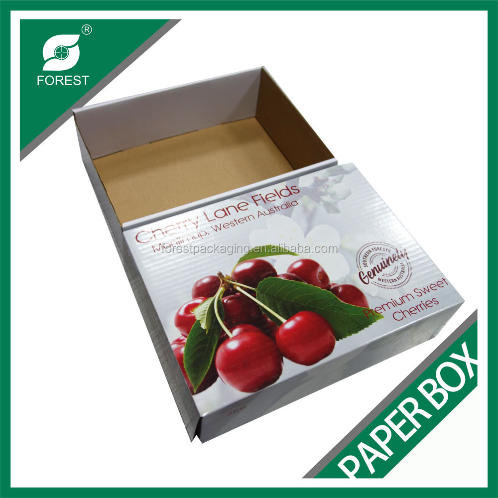CORRUGATED CARTON BOX FOR FRESH FRUIT AND VEGETABLE