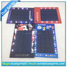 New 2014 solar power bank thin portable Solar Panel Car Battery Charger with LED light manufacturers,suppliers,exporters