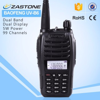 Dual Band Ham Radio BAOFENG UV-B6 Interphone with 99 Channel