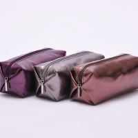 Shiny PU Leather Ladies Travel Cosmetic