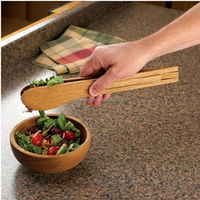 Chinese Professional Manufacture Promotional Durable Wooden Food Tong